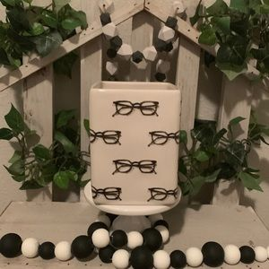 Rae Dunn eyeglass pen/pencil holder jar